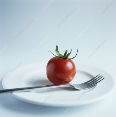 Tomato on a plate