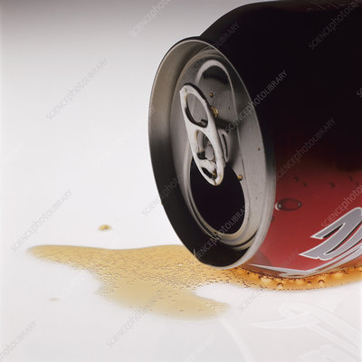 Spilt cola drink