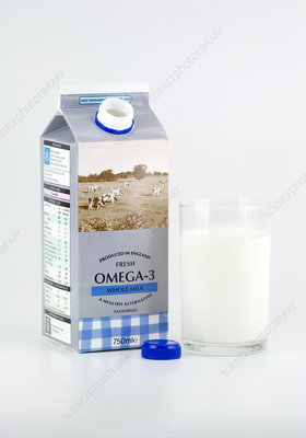 Milk fortified with omega-3 fish oils