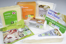 Selection of vegetarian cheeses