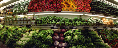 Produce section of a supermarket
