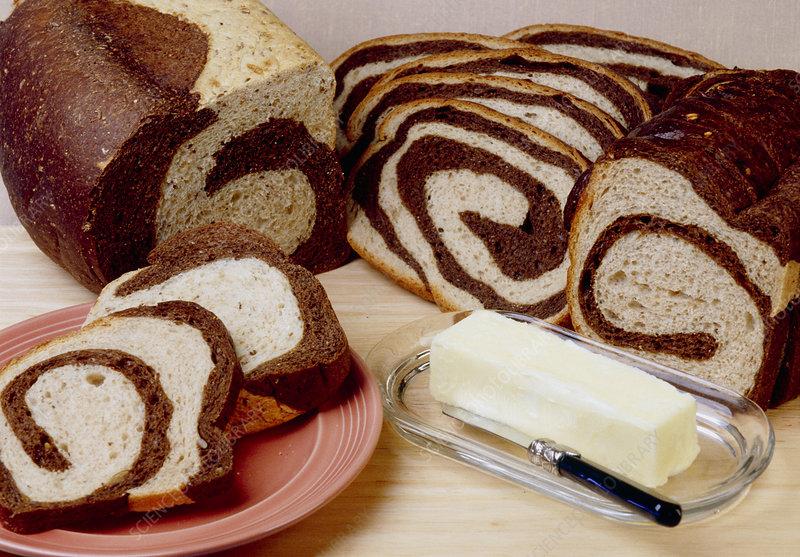Swirl rye bread