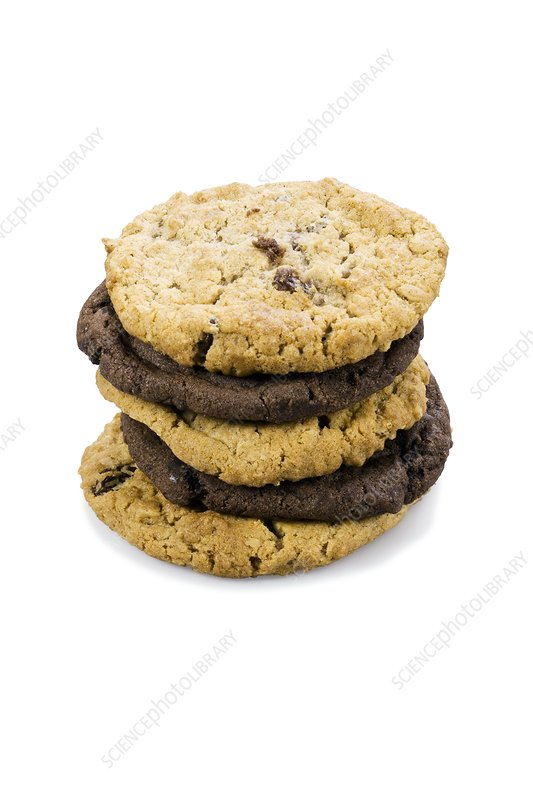 Mixed stack of cookies