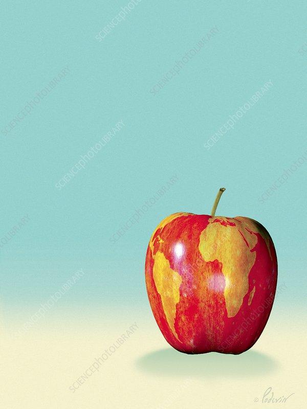 World food, conceptual artwork