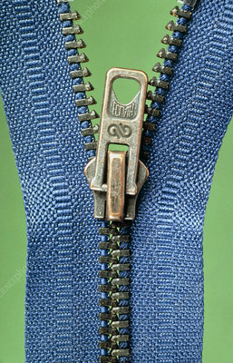 Close-up of a zip fastener