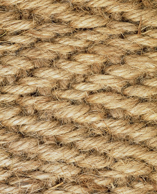 Macrophotograph of the weave of a jute mat