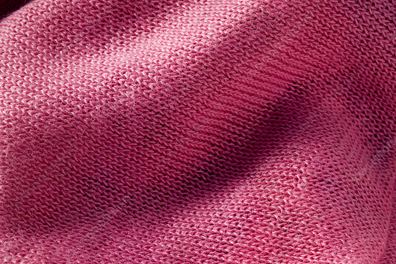 Fabric knitted from nettle fibres