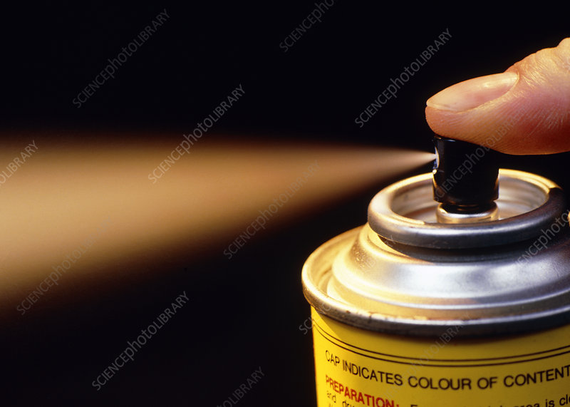 Close-up Aerosol spray can
