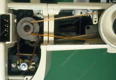 Sewing machine with casing removed