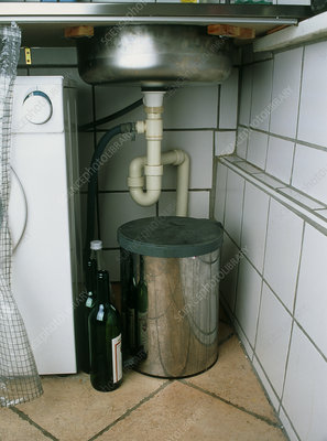 View beneath a kitchen sink