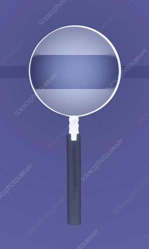 Magnifying glass X-ray