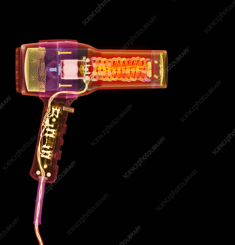 Hair dryer X-ray
