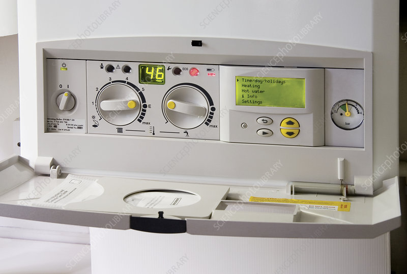 Household boiler controls - Stock Image H130/0496 - Science Photo ...