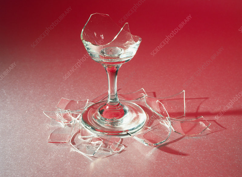 Glass shattered by sound