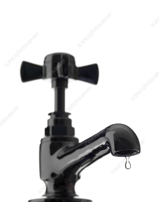 Water dripping from a tap