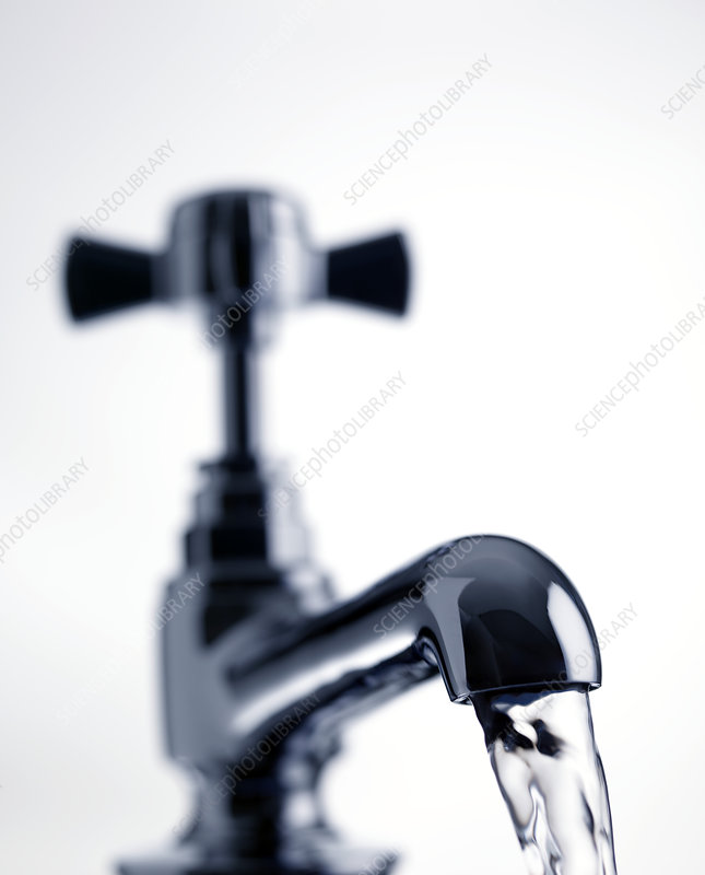 Water running from a tap