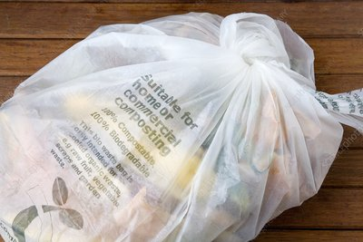 Biodegradable plastic bag