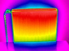 Radiator, thermogram