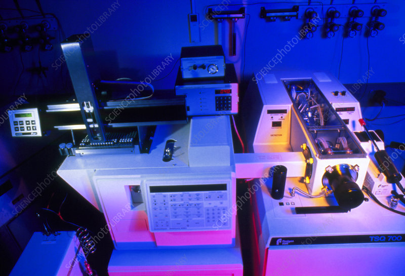 Gas chromatography and mass spectrometer