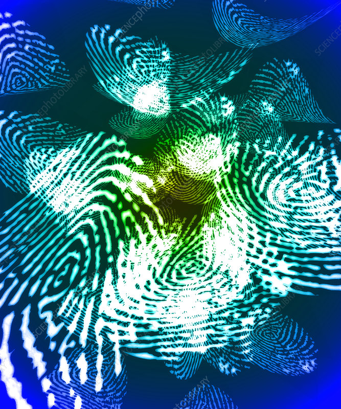 Fingerprints, computer artwork