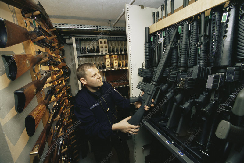 Police firearms collection