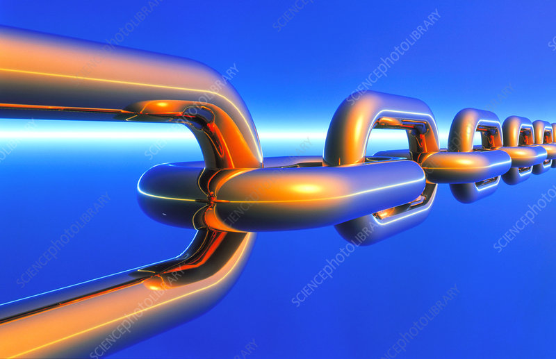 Computer artwork of a chain