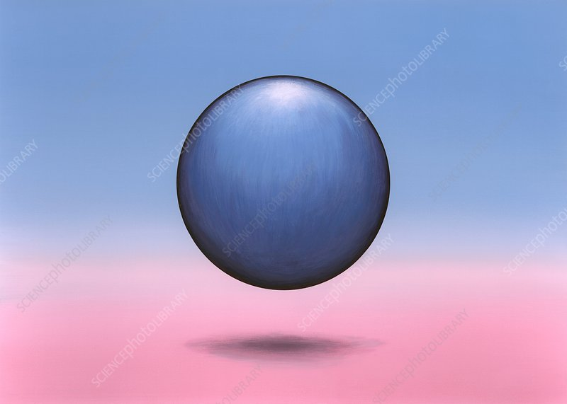 Floating sphere, abstract artwork