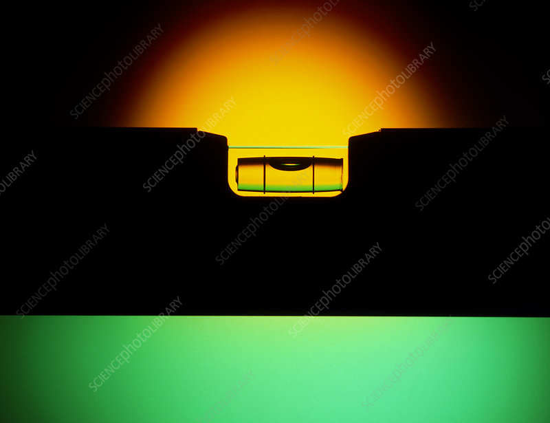 Silhouette of a spirit level