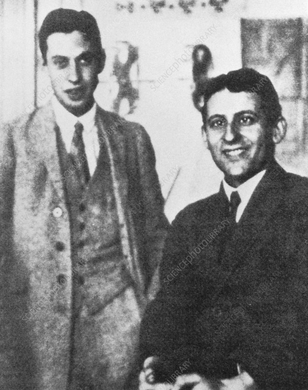 George Uhlenbeck and Samuel Goudsmit in 1926