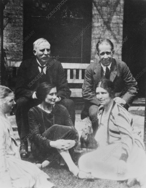 E. Rutherford together with Niels Bohr