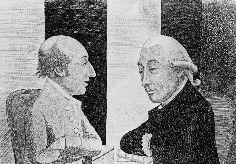 James Hutton and James Black, British scientists