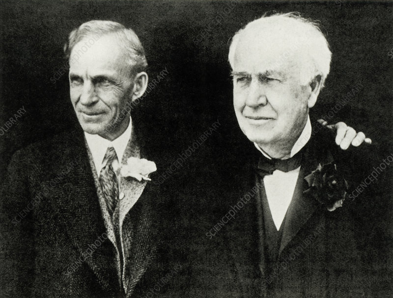 Henry Ford and Thomas Edison, American inventors