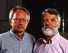 Peter Armbruster and Sigurd Hofmann, physicists