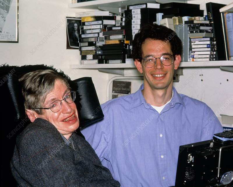 Stephen Hawking and Neil Turok, physicists