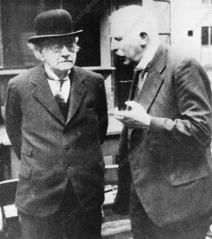 The physicists J J Thomson and Ernest Rutherford