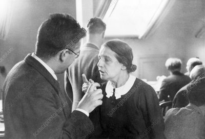 Emilio Segre and Lise Meitner