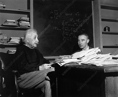 Oppenheimer and Einstein
