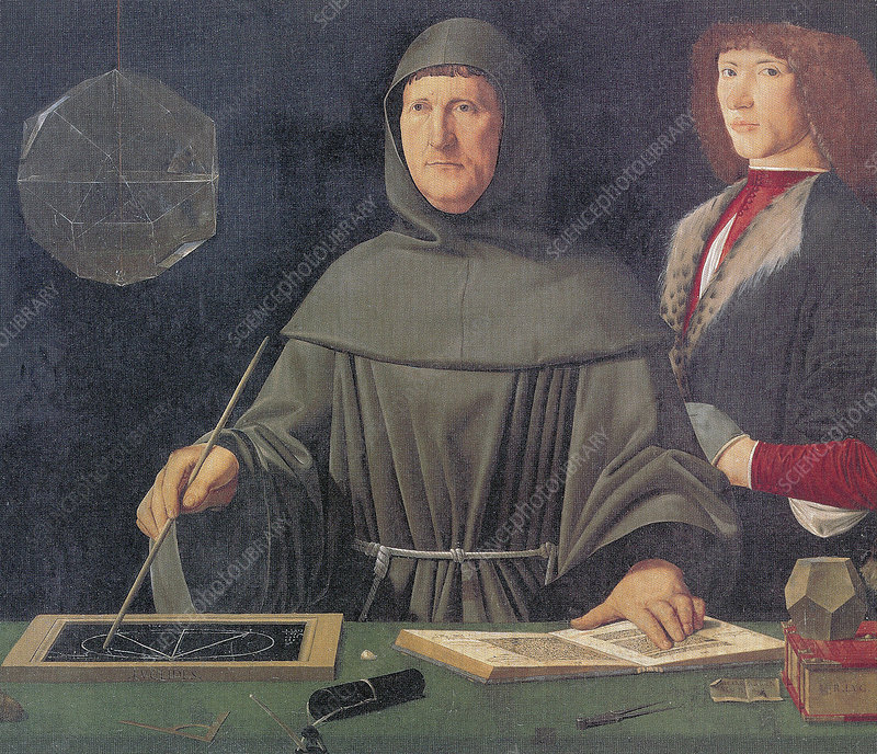 Luca Pacioli and Guidobaldo Da Montefeltro