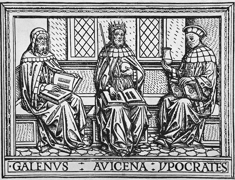 Galen, Avicenna and Hippocrates
