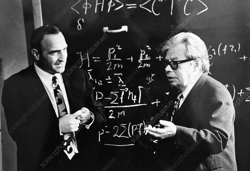 Bogolyubov (right), Soviet physicist