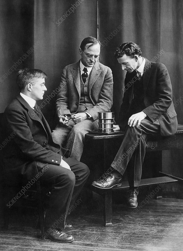 Langmuir, W.R Whitney and W.D Coolidge