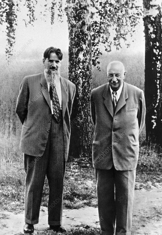 Kurchatov and Ioffe, Soviet physicists