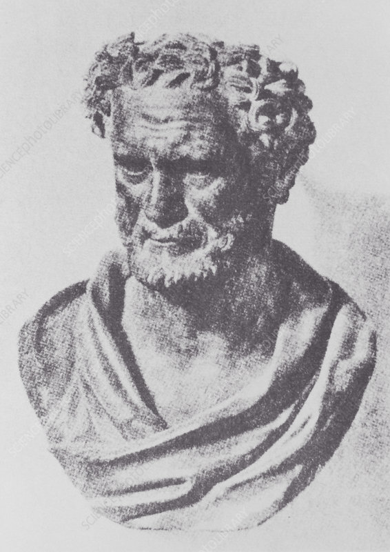 Bust of the Greek mathematician, Archimedes