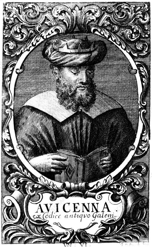 Portrait of the Persian physician Avicenna