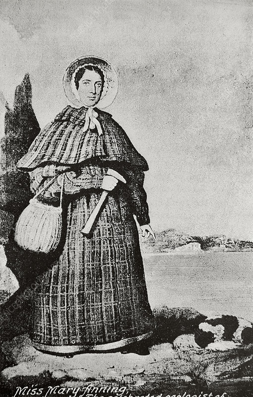 Portrait of Mary Anning, British geologist