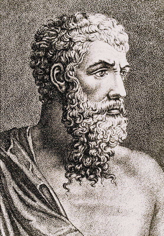 Engraving of Aristotle, Greek philosopher