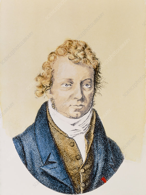 Engraving of Andre Ampere, French physicist