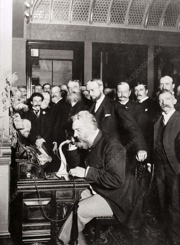 Opening New York-Chicago telephone line