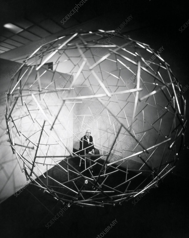 Richard Buckminster Fuller with dome