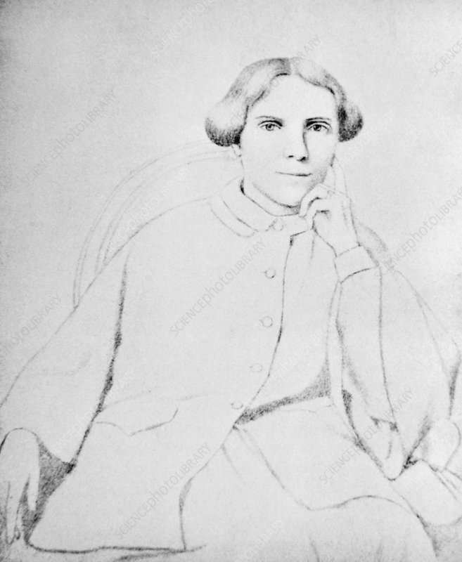 Drawing of Elizabeth Blackwell, British doctor